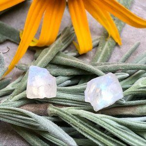 COMING SOON! Raw Moonstone Crystal Stud Earrings